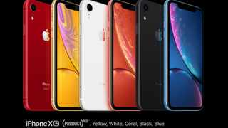 Apple Inc has told its smartphone assemblers Foxconn and Pegatron to halt plans for additional production lines dedicated to the iPhone XR.  Photo: Apple.