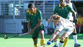 Dayaan Cassiem (left) in action for South Africa. Photo: @SA_Hockey_Men via Twitter