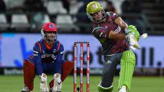 AB de Villiers in action for the Tshwane Spartans against the Cape Town Blitz during the Mzansi Super League. Photo: Chris Ricco/BackpagePix