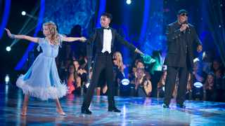 """Brightyn Brems and Mandla Morris dance as Stevie Wonder sings on """"Dancing With the Stars: Junior."""" Picture: Eric McCandless, ABC"""