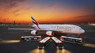 Emirates has taken the initiative to bring in a fleet of new high tech buses at their Dubai airport hub. Picture: Emirates.