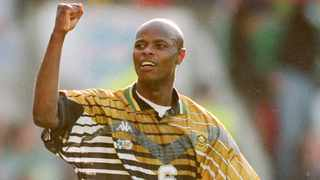 Phil Masinga represented South Africa in 58 international games, scoring 18 goals. Photo: EMPICS Sport via BackpagePix
