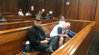 Julian Brown, left, Eugene Victor, centre and Brandon Turner were found guilty of racketeering and contravening the Marine Living Resource Act. Picture: Raahil Sain/African News Agency(ANA)