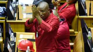 EFF leader Julius Malema applauds President Cyril Ramaphosa during the SONA. Picture: Phando Jikelo/African News Agency (ANA)