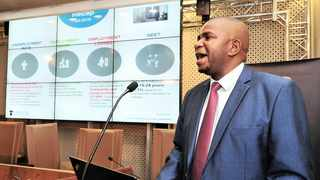 The Statistician-General of South Africa, Risenga Maluleke, releases the results of the Quarterly Labour Force Survey for the fourth quarter of 2018 during a media briefing at Tshedimosetso House in Hatfield, Pretoria, yesterday. Photo: Siyabulela Duda African News Agency (ANA)