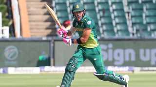 Proteas captain Faf du Plessis scored an unbeaten 112 off 114 balls as they got the better of Sri Lanka in the first ODI at the Wanderers in Johannesburg on Saturday. Photo: Samuel Shivambu/BackpagePix