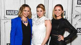 File photo: Actors Beverley Mitchell, Jodie Sweetin and Christine Lakin. Picture: AP