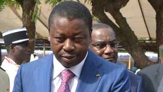 Togolese President Faure Gnassingbe has been called on the opposition to resign. Picture: Xinhua/Victor Kelenga