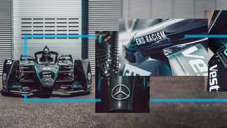 The Mercedes cars in Formula E will go all-black for the remainder of the season as a statement against racism, the auto maker said Wednesday. Photo: @MercedesEQFE via Twitter