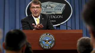US Defence Secretary Ash Carter speaks at a news conference at the Pentagon in Washington. Picture: Yuri Gripas