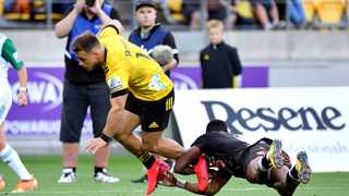 Wes Goosen scored two tries to help the Wellington Hurricanes to a 34-32 win over the Canterbury Crusaders, ending the home side's four-year unbeaten streak in Christchurch and breathing life into the final few weeks of Super Rugby Aotearoa. Photo: Marty Melville/www.Photosport.nz