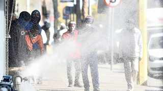A fire hydrant was destroyed as municipal workers intensified their protest over benchmarking payments. Picture: Thobile Mathonsi African News Agency (ANA)