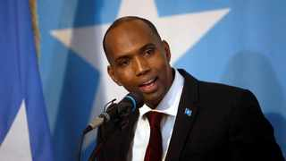 Somalia's Prime Minister Hassan Ali Khaire addresses the parliament in Mogadishu in 2017. File picture: Feisal Omar/Reuters