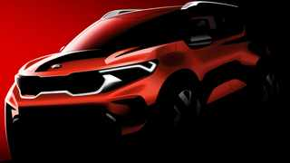 This official design rendering previews the upcoming Kia Sonet.