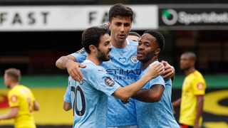 Manchester City manager Pep Guardiola said the individual achievements of his players must be viewed in relation to the team's success and consistency. Photo: Adrian Dennis/Reuters