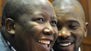 Leaders of the opposition, EFF's Julius Malema and DA's Mmusi Maimane at Parliament. File picture: Brenton Geach