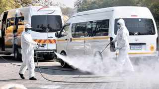 Bosman Street Taxi Rank was intensively cleaned and sanitised yesterday. Picture: Thobile Mathonsi/African News Agency (ANA)