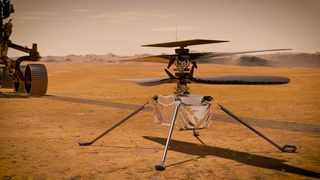 In this artist's concept, NASA's Ingenuity Mars Helicopter. Picture: NASA/JPL-Caltech.