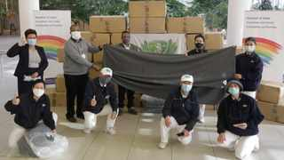 The Tzu Chi Foundation South Africa donated 1 000 blankets to the Hospital of Hope in Cape Town. Picture: Supplied