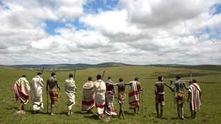 Initiates pose as they walk on a field in Qunu, in the Eastern Cape. There's an insatiable fascination with Xhosa initiation rituals, particularly from the white gaze, say the writers. Picture: Reuters