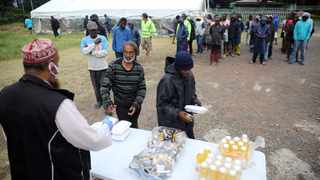 NGOs from different faith communities provided food in the emergency shelters. Picture: Motswari Mofokeng/African News Agency(ANA)