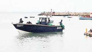 The Hermanus fishing vessel that was fired upon by a warship during a joint SA Navy and German navy exercise.