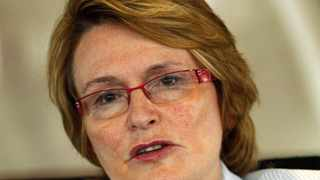 Democratic Alliance (DA) leader Helen Zille speaks during an interview with Reuters in Johannesburg November 2, 2012. South Africa's ruling party will fracture before the decade is out, pulled apart by tension between big business and labour that was laid bare by three months of mining unrest, opposition leader Zille said. In an interview with Reuters, Zille said the unprecedented mining turmoil, including the police killing of 34 strikers at Lonmin's Marikana platinum mine in August, had exposed unsustainable contradictions in Nelson Mandela's 100-year-old African National Congress. Picture taken November 2, 2012. REUTERS/Siphiwe Sibeko (SOUTH AFRICA - Tags: BUSINESS POLITICS HEADSHOT)