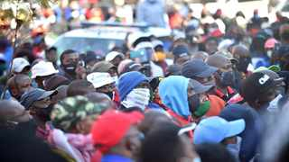 Striking municipal workers protest outside Tshwane House for the second day running. Picture: Thobile Mathonsi/African News Agency (ANA)