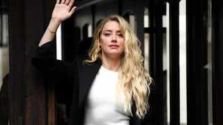 Amber Heard arrives at the High Court in London on Monday, July 27. Picture: Alberto Pezzali/AP