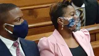 Self-proclaimed prophet Shepherd Bushiri, leader of the Enlightened Christian Gathering church, and his wife Mary in court. Picture: National Prosecuting Authority.