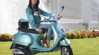 This may look like a traditional Vespa but it has a super clean-burning new engine.