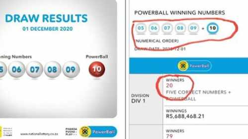 Cries Of Scam Over Consecutive Numbers In Latest Lotto Powerball Jackpot
