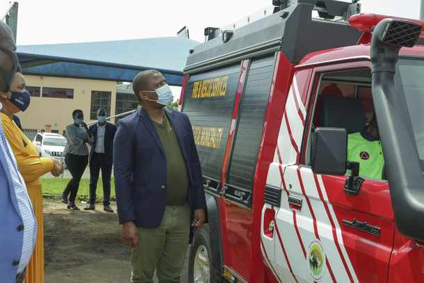 PICS: KZN Cogta MEC hands over water tank and fire engine to Ndwedwe community