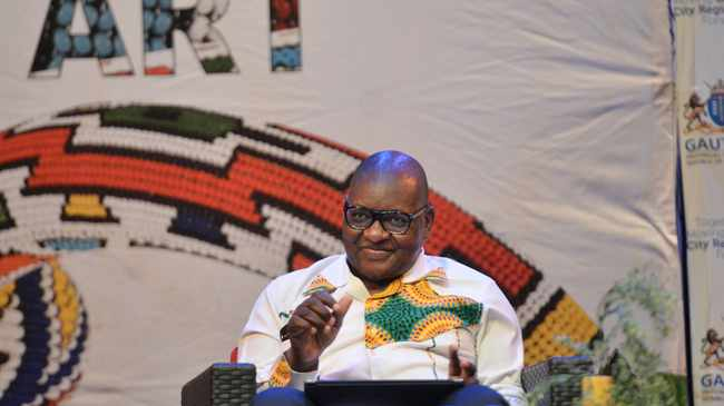 South Africa - Pretoria - 21 March 2019. Gauteng Premier David makhura talks to artists at the State Theatre. Picture: Oupa Mokoena/African News Agency (ANA)