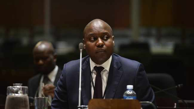 South Africa - Pretoria - 08 April 2019 - Former Employee at Ayo Technologies, Siphiwe Nodwele testifying at the Public Investment Corporation (PIC) Commission of Inquiry. Picture: Bongani Shilubane/African News Agency (ANA)