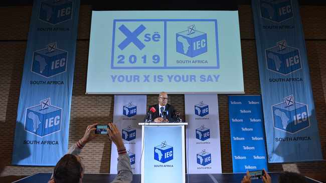 Western Cape IEC head, Courtney Sampson addressed the media at the provincial results centre. Picture: Courtney Africa/African News Agency(ANA)