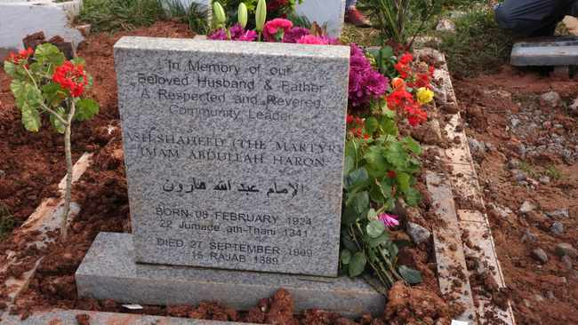 Galiema Sadan-Haron, the widow of Imam Abdullah Haron, was buried on the same day her husband was buried 50 years ago and in the same grave at the Mowbray Muslim Cemetery. Picture: Ian Landsberg/African News Agency (ANA).