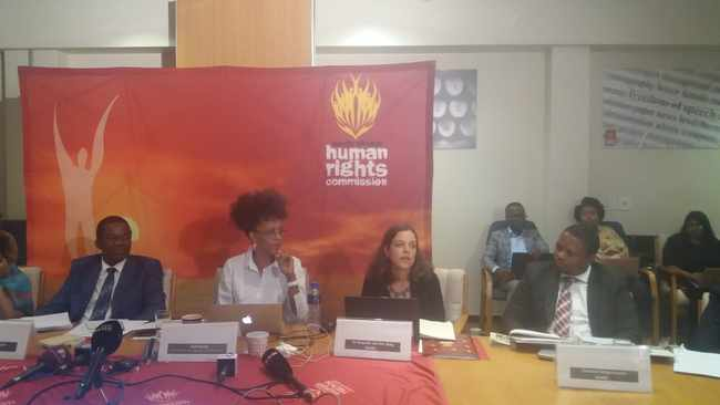 SAHRC officials at the announcement of findings against Julius Malema the leader of the EFF. Picture: Itumeleng English/ANA
