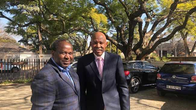 Minister of Finance Tito Mboweni with SA Reserve Bank Governor, Lesetja Kganyago. Picture: Tito Mboweni/Twitter