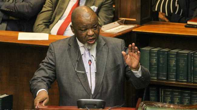 Mineral Resources and Energy Minister Gwede Mantashe delivering the department of energy budget vote. Picture: GCIS
