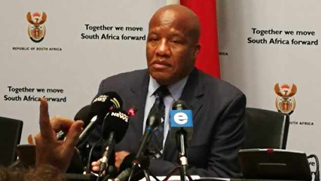 Presidency Minister Jackson Mthembu briefing the media on the outcomes of the fortnightly cabinet meeting. Picture: Chantall Presence/African News Agency (ANA)