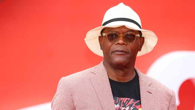 Actor Samuel L Jackson poses for photographs as he arrives at the UK premiere of Incredibles 2 in London. Picture: Reuters