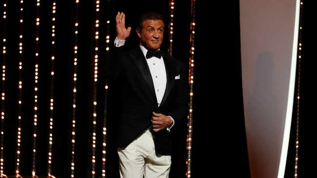 Sylvester Stallone on stage. Picture: REUTERS/Eric Gaillard