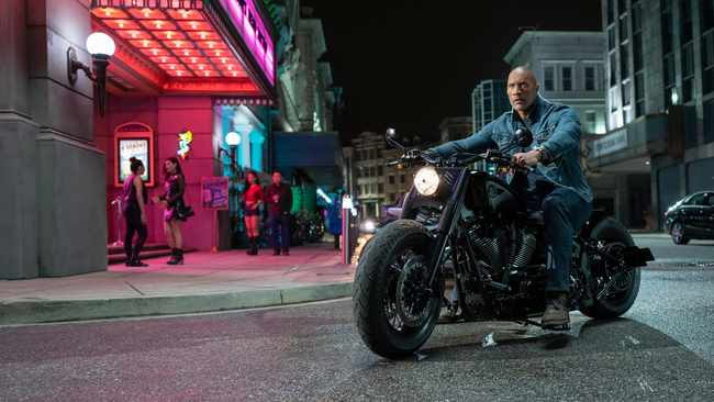 "This image released by Universal Pictures shows Dwayne Johnson in a scene from ""Fast & Furious Presents: Hobbs & Shaw"". Picture: AP"