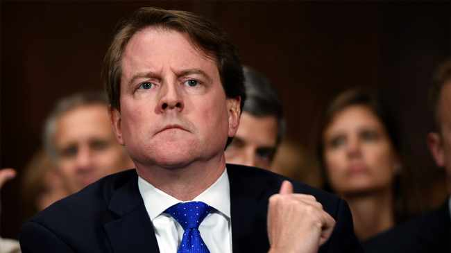 A federal judge has ordered Don McGahn to appear before Congress in a setback to President Donald Trump's effort to keep his top aides from testifying.  Picture: Saul Loeb/Pool Photo via AP, File