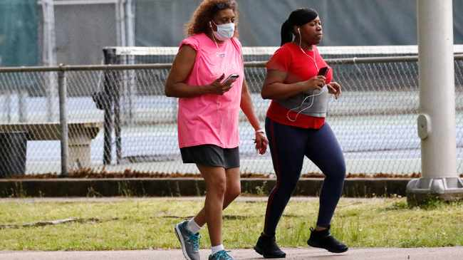 Runners across the country country are unable to hit the streets following the national lockdown due to the spread of the coronavirus pandemic. Rogelio V. Solis/AP
