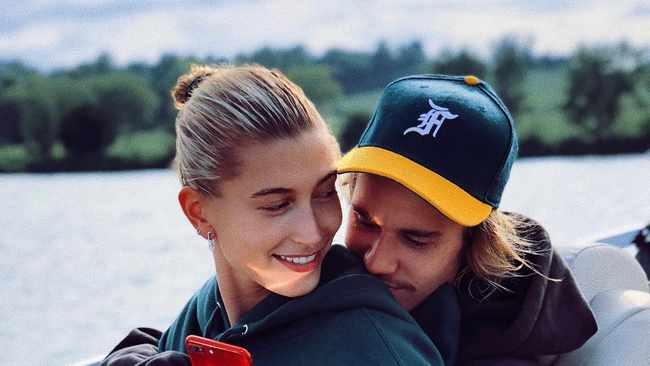 Justin Bieber with his wife Hailey Baldwin. (Instagram)
