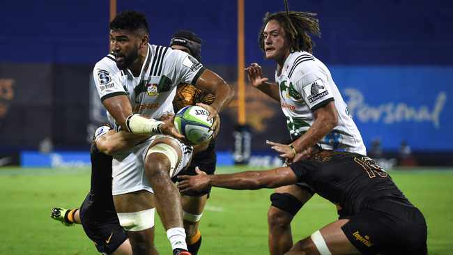 Etene Nanai-Seturo of Chiefs in action during a Super Rugby match played at the Jose Amalfitani stadium in Buenos Aires in March. Photo: EPA/Marcelo Endelli