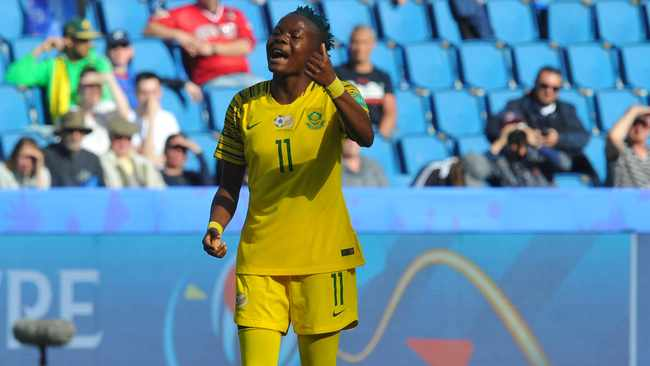 """""""She could've had a second and a third, and was always a danger. She has unbelievable talent,"""" said Banyana coach Desiree Ellis on Thembi Kgatlana. Photo: Sydney Mahlangu/BackpagePix"""