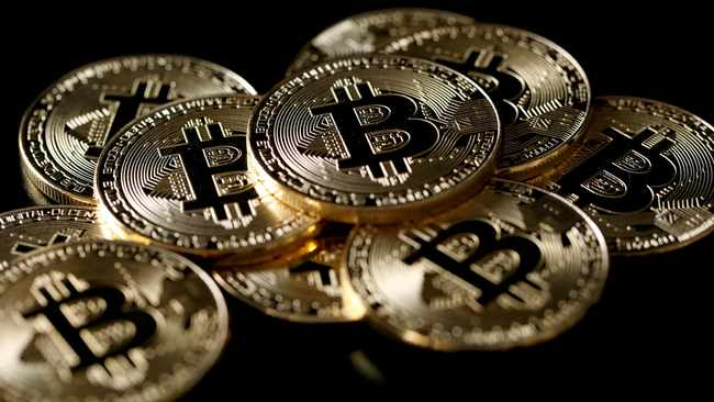 The price of bitcoin slumped ahead of the next halving event, which slashes revenues for those who create new units of the online cryptocurrency. File picture: Reuters/Benoit Tessier